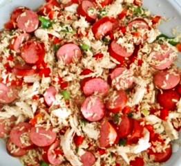 1 Skillet Chicken & Sausage Jambalaya
