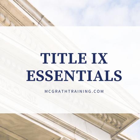 Title IX Essentials