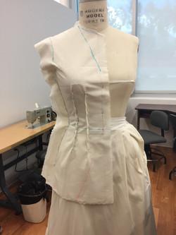 Drape for Coat Center Front