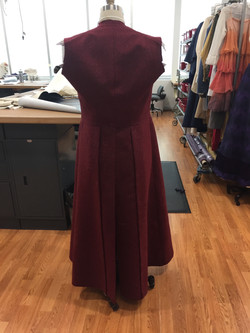 Overcoat with Skirt and Vents