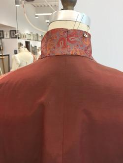 Center Back View of Vest Collar