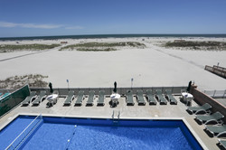 Commander Motel Pool and Beach