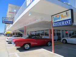 Coffee Shop with classic car