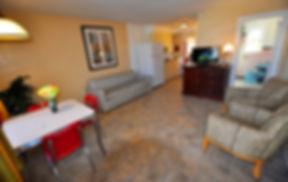 Nantucket Type C Room Living Room at Nantucket Inn & Suites in Wildwood hotel