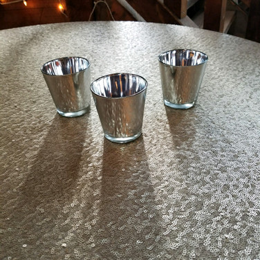 Silver, Gold, or Rose gold mercury votive holders