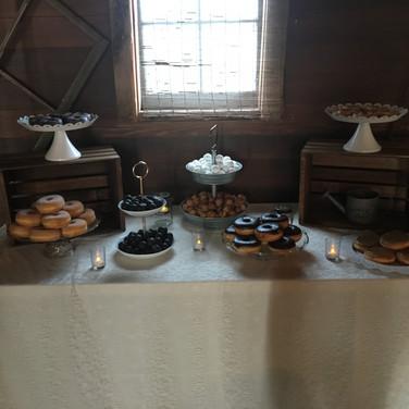 Various dessert bar trays