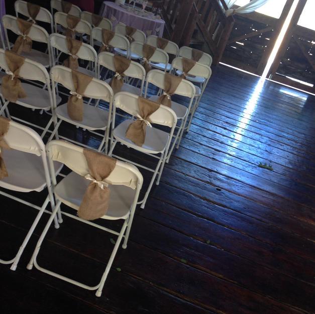 Burlap Chair Ties