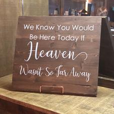 Wood Memorial Sign