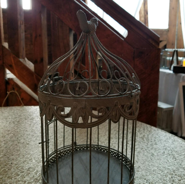 Grey Bird Cage