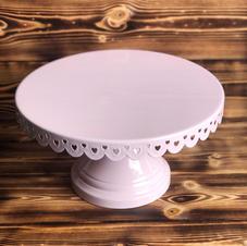 Pale Pink Metal Cake Stand