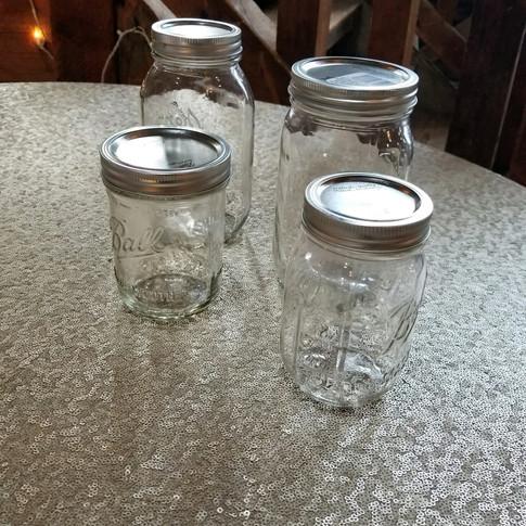 Mason jars (various sizes)
