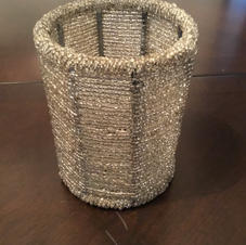 Beaded Candle Covers