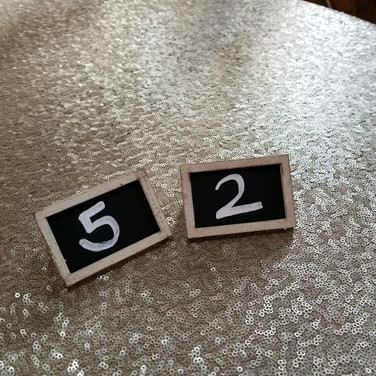small chalkboard table numbers