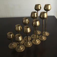 Assorted Gold Candle Sticks