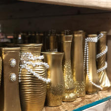 Assorted Gold Vases