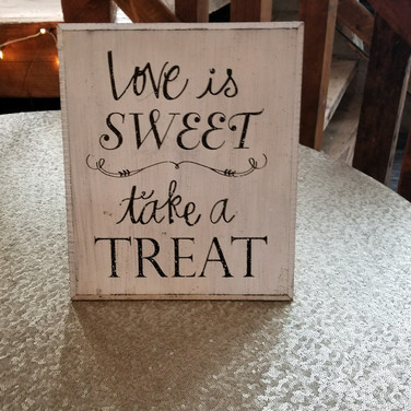 """Love is Sweet"" sign"