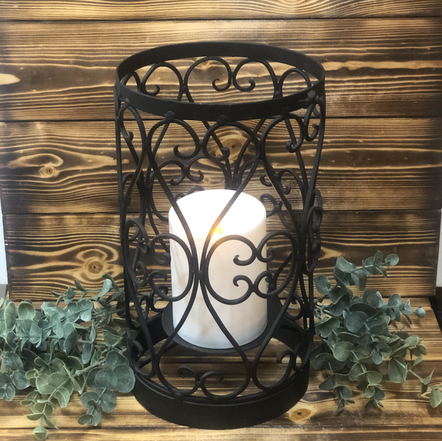 Rod Iron Candle Holders