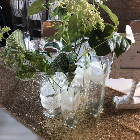Clear glass bottles (various sizes)