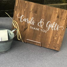 Wood Cards and Gifts Sign