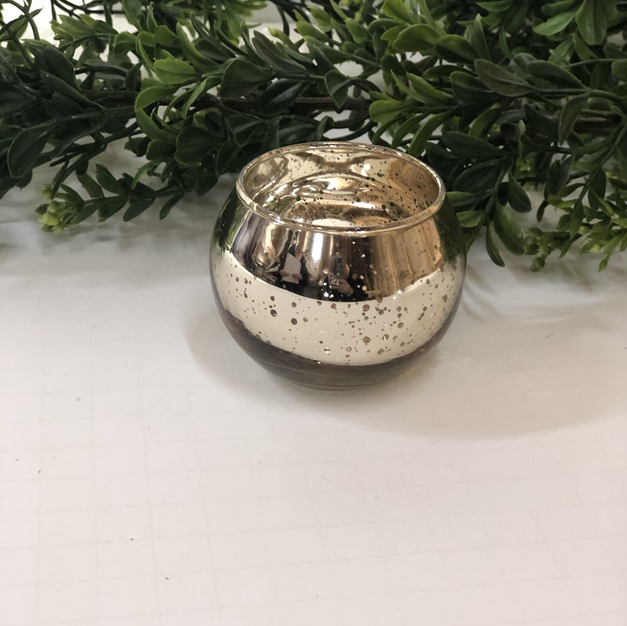 Gold Mercury Candle Holder