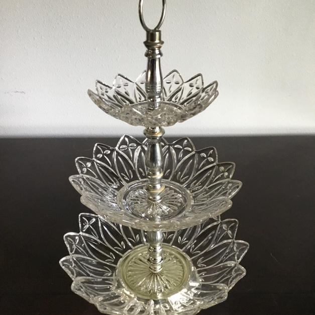 3 Tiered Glass Stand