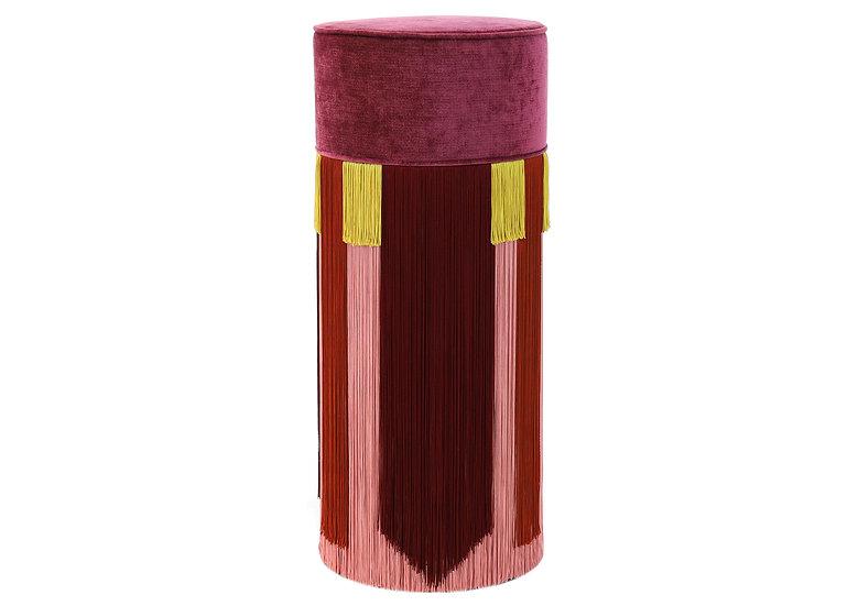 GEO TIE PLUM BAR (HIGH) POUF diameter: 30 cm