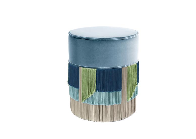 FLO' LIGHT BLUE POUF diameter: 40 cm