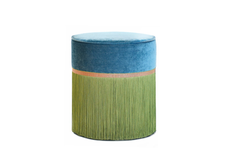 BI COLOUR BLUE POUF diameter: 40 cm