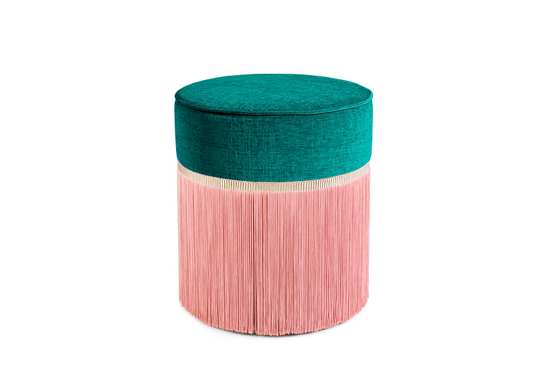 BI COLOUR GREEN POUF diameter: 40 cm