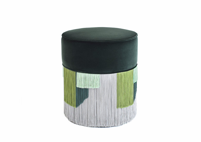 GEO DARK GREEN POUF diameter: 40 cm