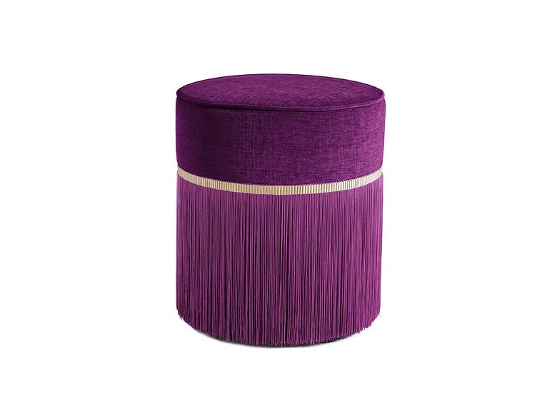 PLAIN PLUM POUF diameter: 40 cm