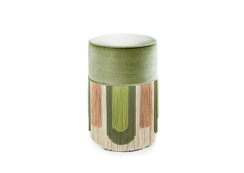 DECO' LIGHT GREEN POUF/ OTTOMAN diameter: 30 cm