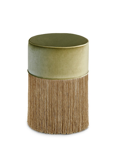 GREEN BAMBOO WITH GOLD  FRINGE Diameter: 30cm