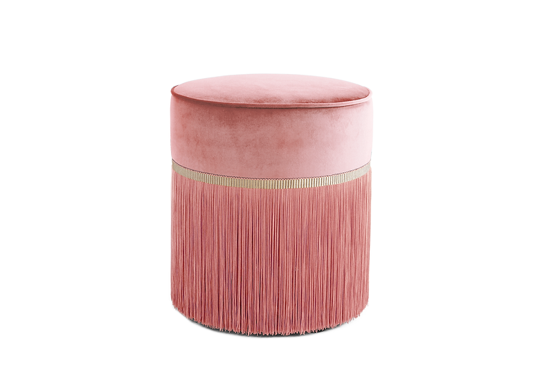 PLAIN PINK POUF diameter: 40 cm