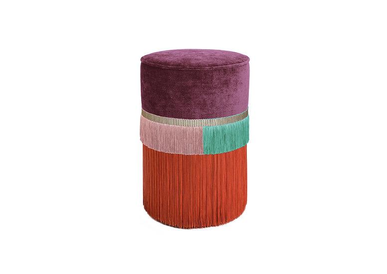 PLAIN LINE PLUM POUF/ OTTOMAN diameter: 30 cm