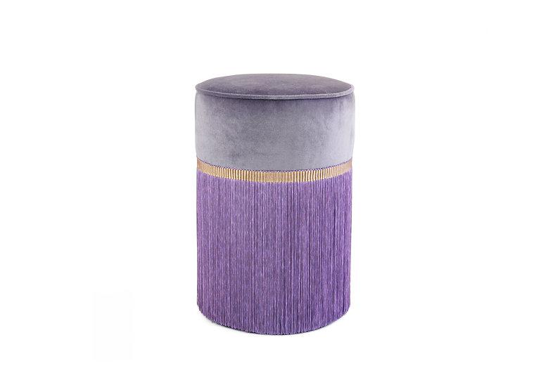PLAIN PURPLE POUF/ OTTOMAN diameter: 30 cm
