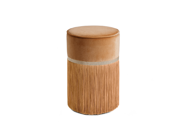 PLAIN BEIGE  POUF/ OTTOMAN diameter: 30 cm