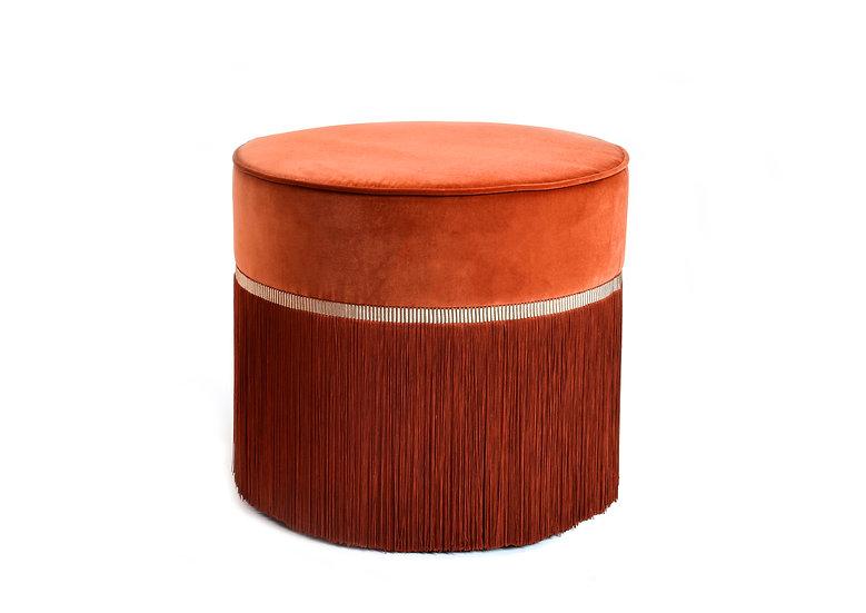 PLAIN COGNAC POUF diameter: 50cm
