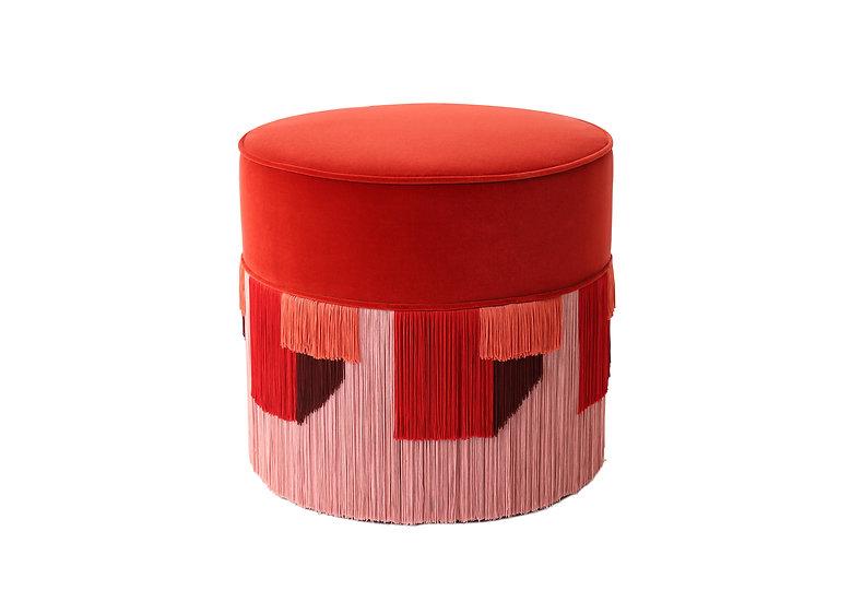 GEO RED POUF diameter: 50cm