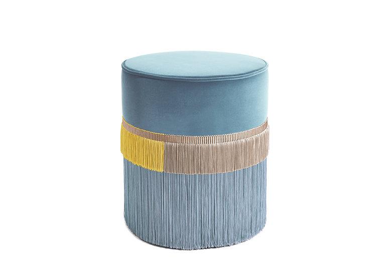 PLAIN LINE BLUE POUF diameter: 40 cm