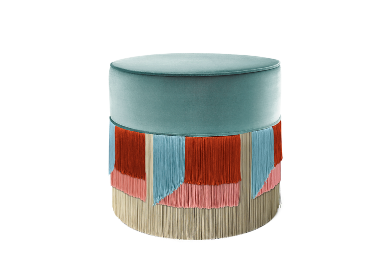 FLO' LIGHT BLUE POUF diameter: 50 cm