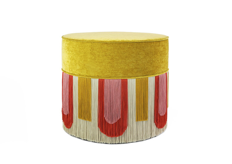 DECO' YELLOW POUF diameter: 50cm