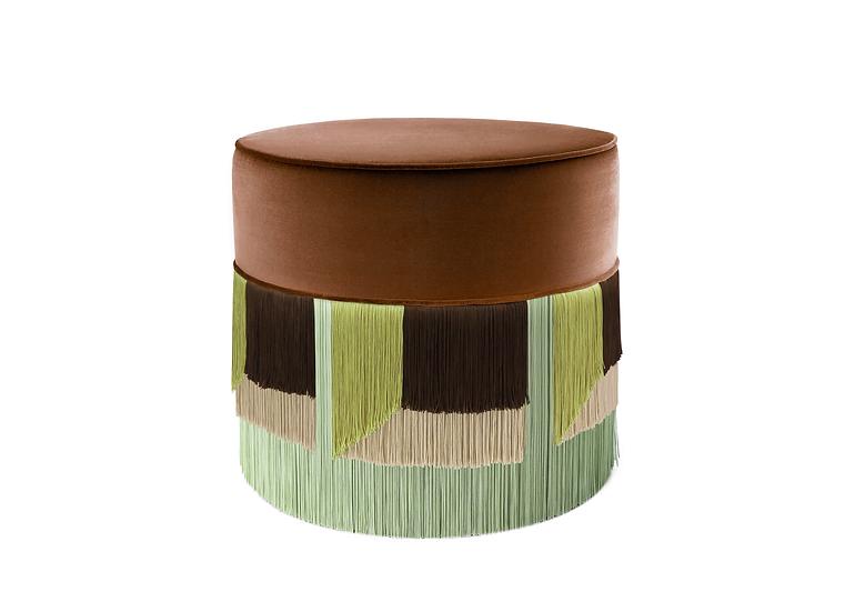 FLO' BROWN POUF diameter: 50 cm
