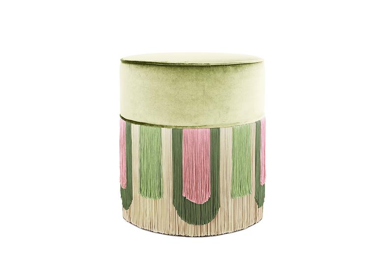 DECO' LIGHT GREEN POUF diameter: 40 cm