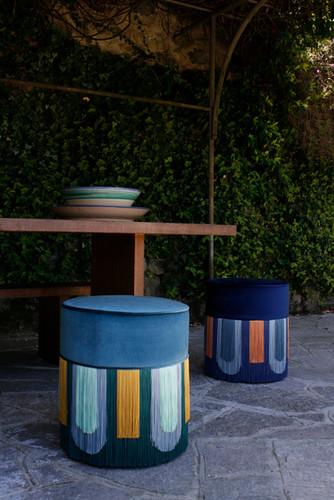 Blue Deco' collection diameter: 40 cm