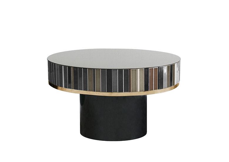 GREY CERAMIC TILES LOW TABLE diameter: 62.5 cm