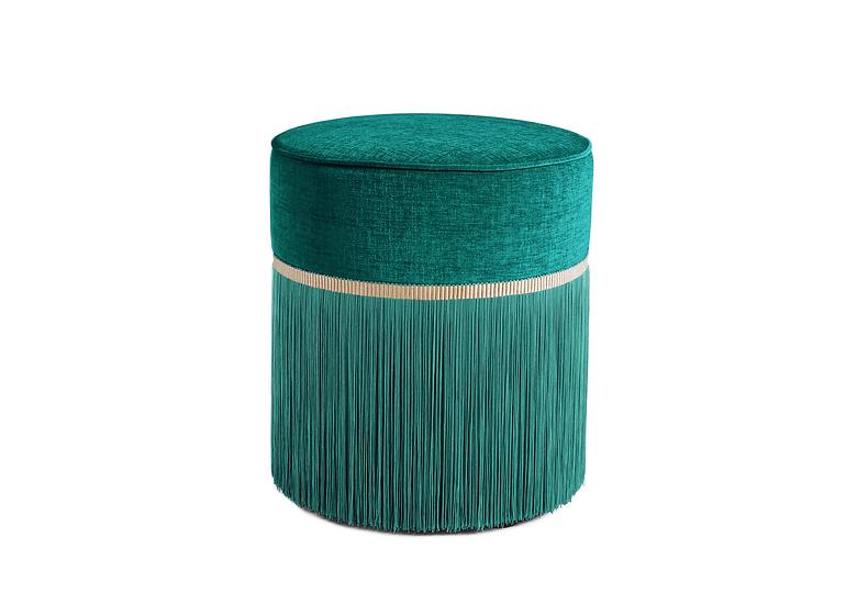 PLAIN GREEN POUF diameter: 40 cm