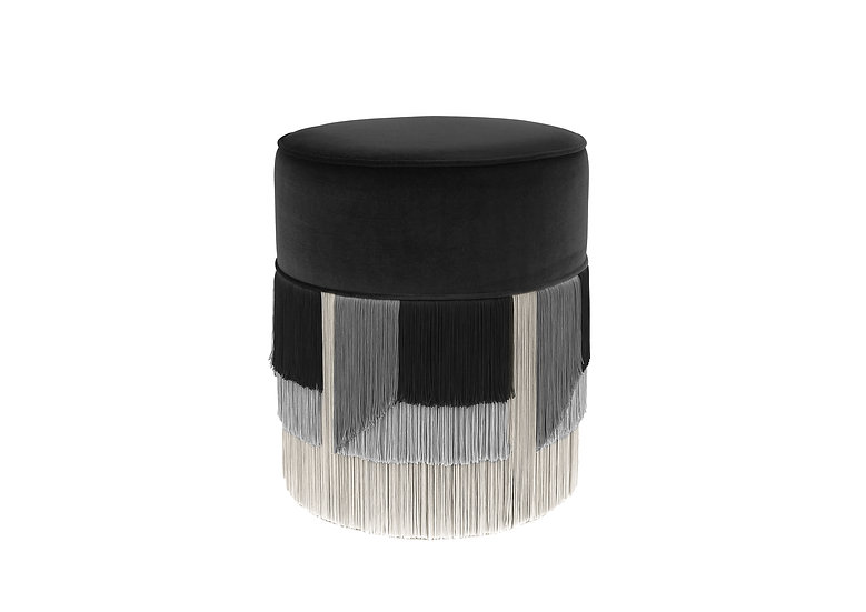 FLO' BLACK POUF diameter: 40 cm