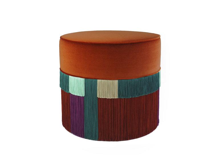 WIEN COGNAC POUF diameter: 50 cm