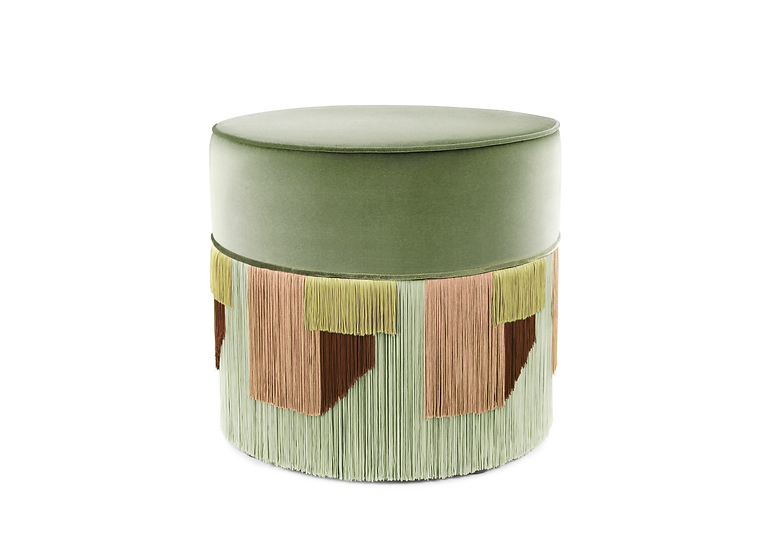 GEO LIGHT GREEN POUF/ OTTOMAN diameter: 50cm